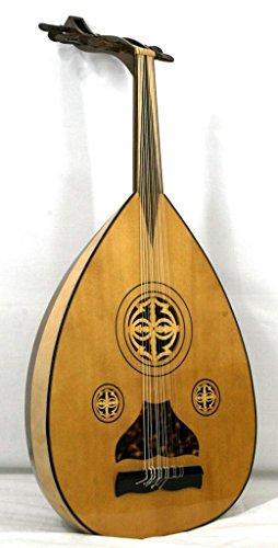 'Musikalia Laute arabischen Aoud, Boden in 15Latten aus Ahorn und Walnuss Mansonia, Rosetten aus Holz Durchbrochenes, von Geigenbauer