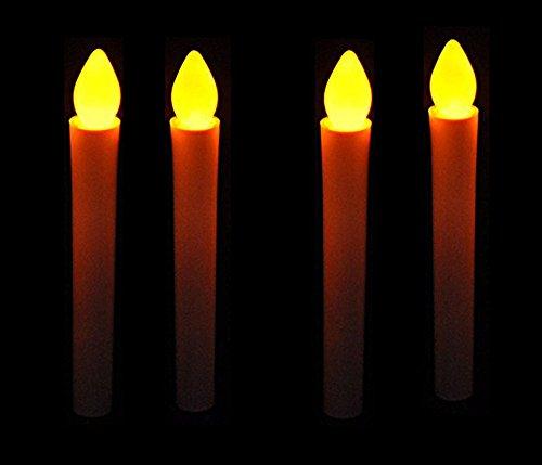 Mercury 電池 式 LED ろうそく (4本セット) 火 使わない 安全 火気 厳禁 の 部屋 でのご使用に最適 蝋燭 ローソク お彼岸 お盆 安心 安全
