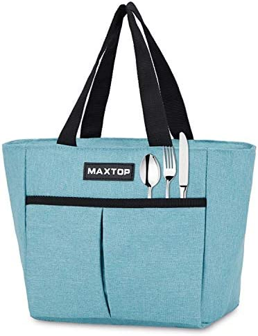 MAXTOP Insulated Lunch Bags for Women Thermal Lunch Tote Bag with Front Pocket Perfect Gifts product image