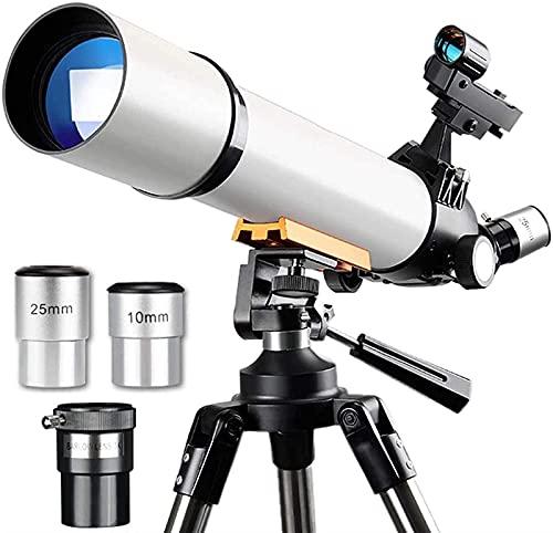 GaoF Telescopios de Apertura de 70 mm para Adultos, telescopio Refractor, telescopio de Viaje con Bolsa de Transporte, Adaptador de teléfono y Control Remoto inalámbrico