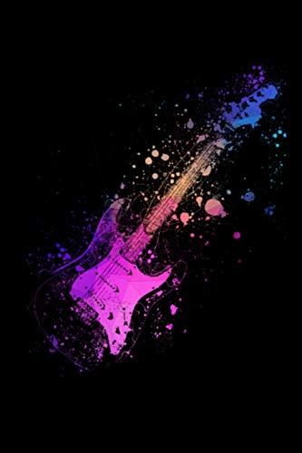 Notebook: A5 Block kariert - 120 Seiten Karo Notizbuch perfekt für Lieder oder Notenbuch, perfektes Geschenk für Gitarristen, Gitarrenspieler und Musiker!