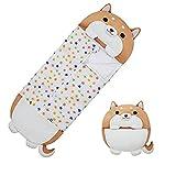 Sleeping Bag for Kids Comfy Cartoon Stuffed Animals Sleeping Bags with Pillow Cute Dog Toddler Gifts All-Season Medium Size 54' X 20'