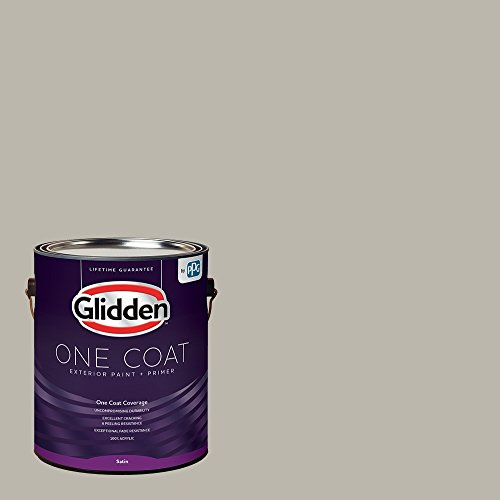 Glidden Exterior Paint + Primer: Gray/Ghost Writer, One Coat, Satin, 1-Gallon