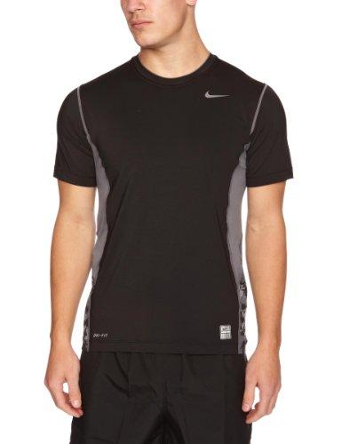 Nike Herren T-Shirt SS-Top, Black/Flint Grey, M, 324300