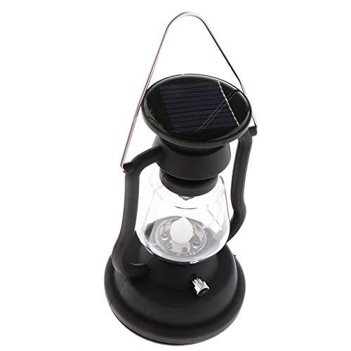 B Baosity Dimmbare Warmgelbe LED Öllampe Sturmlampe Petroleumlampe zum Tragen - Schwarz