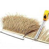 Selene 36 colores de calidad de plumas de avestruz flecos para hacer vestidos de Millinery Craft, caqui, 2 m