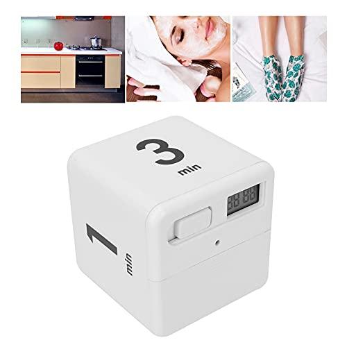 Temporizador giratorio, materiales plásticos de alta calidad Resistente al desgaste y duradero Temporizador giratorio de cocina liviano Volumen ajustable para cocinar(1-3-5-10 minutes)