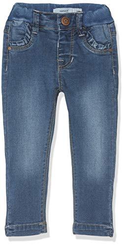 NAME IT Baby-Mädchen Jeans NMFPOLLY DNMTRILLA 2155 Pant NOOS, Blau (Medium Blue Denim), (Herstellergröße:80)
