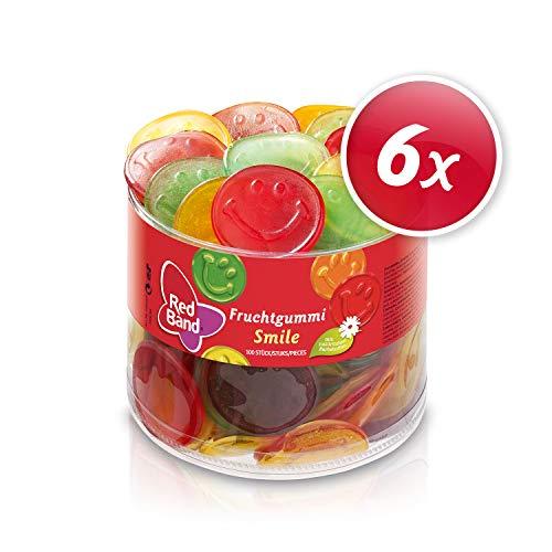 Red Band Fruchtgummi Smile, Dose, 6er Pack (6 x 100 St. Dose)