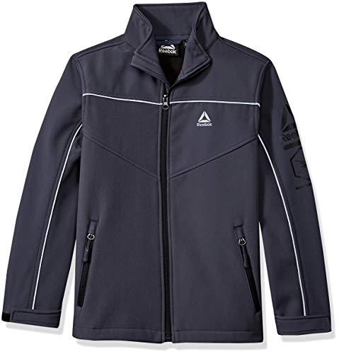Reebok Boys' Little Active Jacket with Zip Pockets, Charcoal, 5/6