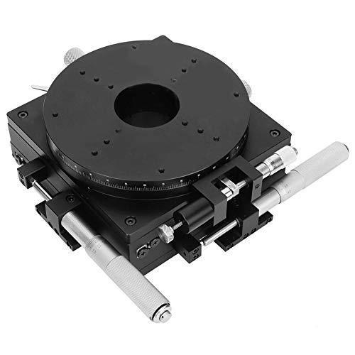 Fine Adjustment Platform, SEMXYR-160 3-Achs 160x160mm 294N Fine Adjustment Platform Cross Guide for Optical Displacement Table, 294N XYR Precision Optical Stage Cross Rail Manual Platform