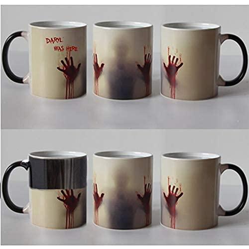 N\A Los Que Caminan Tazas muertas Que transforman el Calor cambiando de Color Tazas de té de la Magia Taza Daryl WA
