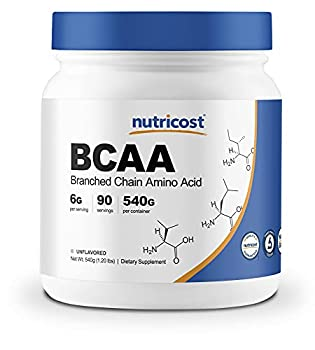 Nutricost BCAA Powder 2 1 1  Unflavored  90 Servings - High Quality Branched Chain Amino Acids