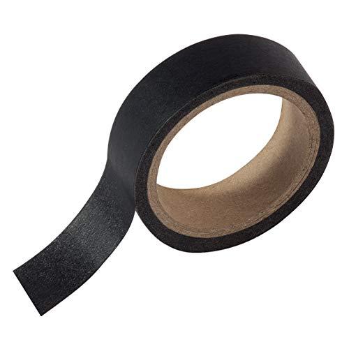 SIGEL MU220 Masking Tape für Meet up und Artverum Boards, Markierungsband für Whiteboards, selbstklebend, Papier, schwarz, 1 Rolle 16 m