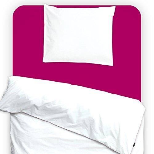 Drap housse imperméable et anti-acariens 90x200cm Berry Pink - Louis Le Sec
