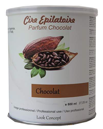 Storepil - Pot cire à épiler jetable CHOCOLAT - 800 ml pour épilation