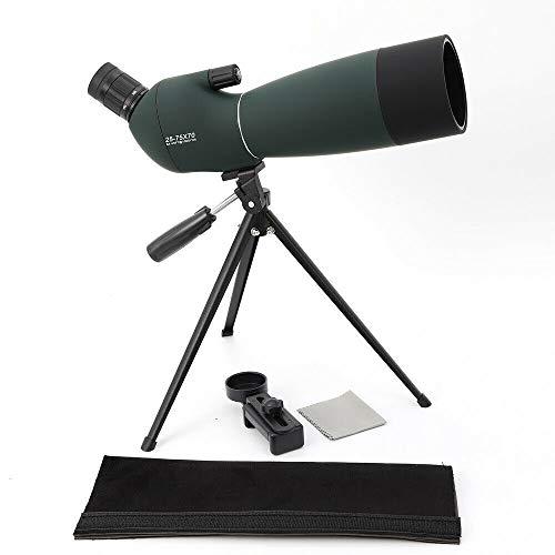 Buy Bargain 25-75x70 Waterproof Zoom Monocular Telescope Angled BAK4 Spotting Scope with Tripod Phon...
