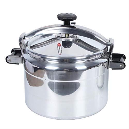 YUFHBDI Aluminiumdruckkocher-Drüse Typ Gewerblicher Haushalts-Non-Stick-Druckkocher-Gas-Induktionskocher Allgemeindruckkocher-Appliance (Color : Silver, Size : 22L)