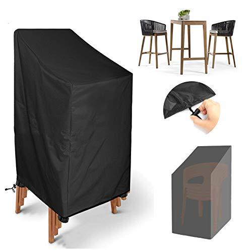 Ledph Funda Protectora Sillas De JardíN, Cubiertas para Sofa Apilables De Exterior Y BalcóN Impermeable, 210d Oxford Resistente Al Agua ProteccióN UV