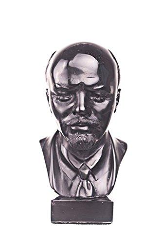 soviética ruso URSS líder Vladimir Lenin piedra busto Estatua Escultura 13 cm negro