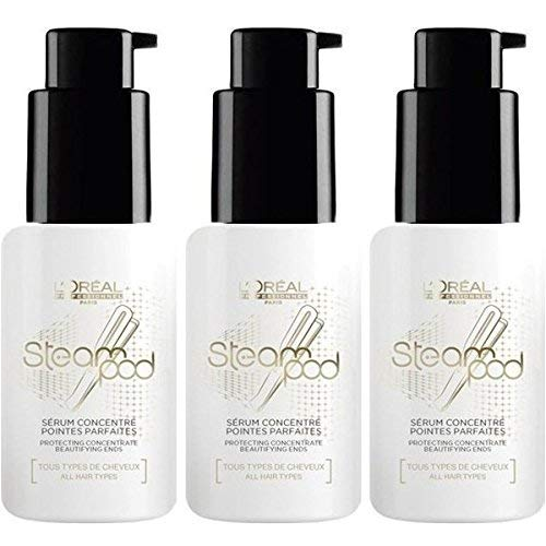 Set mit 3 Serumflaschen L'oreal Steampod Vapoactive Protector Smoothing