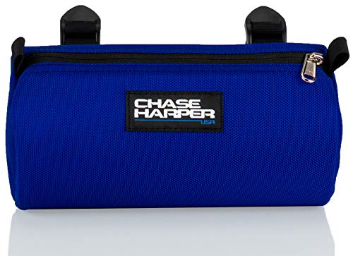 Chase Harper USA Bicycle Barrel Bag - Water-Resistant, Tear-Resistant, Industrial Grade Ballistic Nylon with Universal Mounting System - Blue