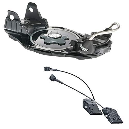 F2 INTEC Titanium Snowboard PLATTENBINDUNG BINDUNG Black GR. M + INTEC Adapter