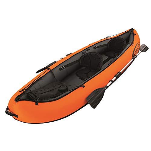 LK-HOME Kayak, Juego de Kayak Inflable Doble, Material plástico de 0,6 mm de Espesor, con remos de aleación de Aluminio, Canoa de Pesca Unisex, 200 kg de Carga, 330 × 94 cm