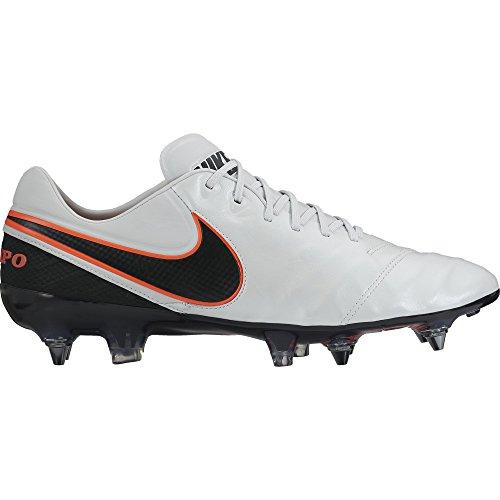 Nike Tiempo Legend VI SG-PRO, Scarpe da Calcio Uomo, Multicolore (Blanco/Negro/Naranja (Pr Platinum/Blk-Blk-Hypr Orng-), 38.5 EU