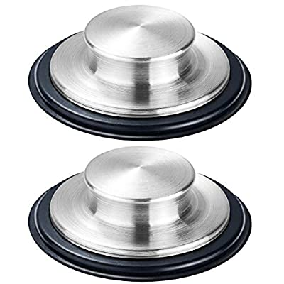 "2PCS Kitchen Sink Stopper - Stainless Steel, Large Wide Rim 3.35"" Diameter - Fengbao"