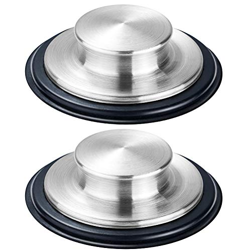 2PCS Kitchen Sink Stopper - Stainless Steel, Large Wide Rim 3.35