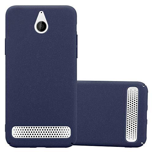 Cadorabo Hülle für Sony Xperia E1 in Frosty BLAU - Hardcase Handyhülle aus Plastik gegen Kratzer & Stöße - Schutzhülle Bumper Ultra Slim Back Hülle Hard Cover