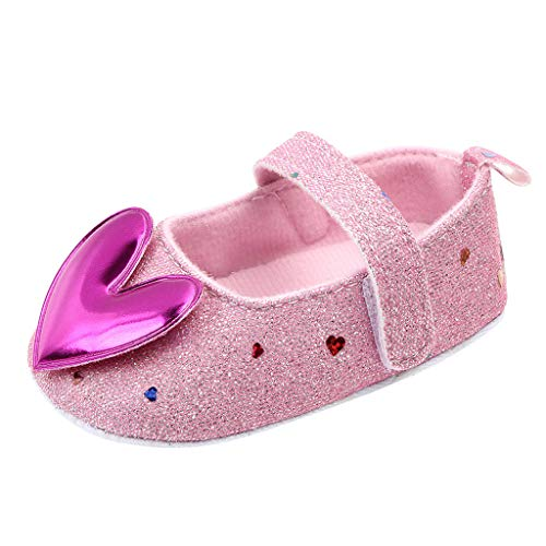 LIJUCH Infant Little Girls Indoor Mary Jane Dress Shoes Bling Ballet Flats with Sequins for Girl Party School Shoes