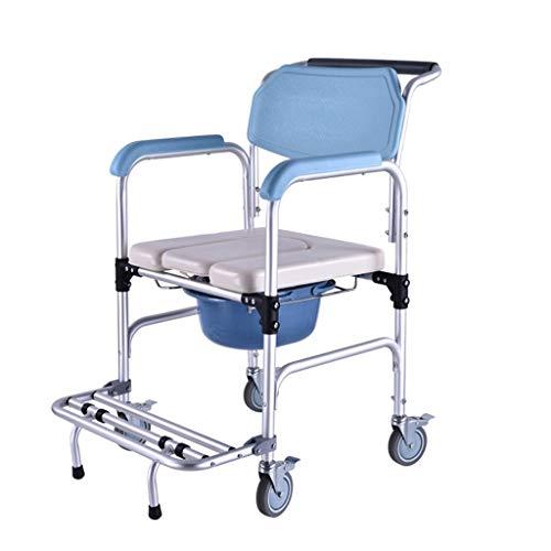 Yeeseu Sillas de baño con ducha de ruedas con ruedas autopropulsadas. 🔥