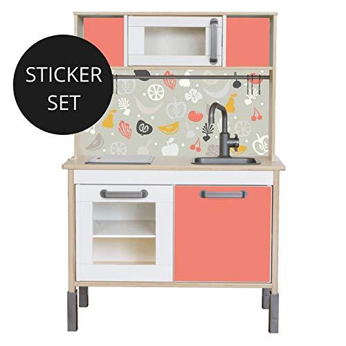 Limmaland Sticker für IKEA DUKTIG (Koralle) - Kinderküche Nicht inklusive