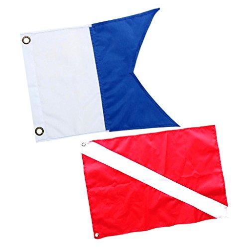 MagiDeal 2 Stück Nylon Taucherflagge...