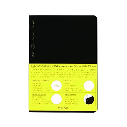 STALOGY 018 Editor's Series 365 days notebook (B6//Black) S4104 by STALOGY