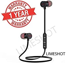 LIMESHOT Magnetic Bluetooth Headset Headphone with Noise Isolation, Thunder Beats Stereo Sound and Hands-Free with Mic for M20 and All Android Devies