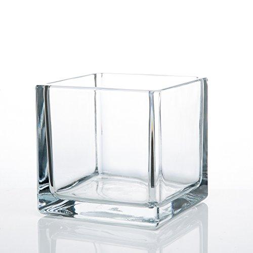 "Richland Square Glass Cube Vase 5"""
