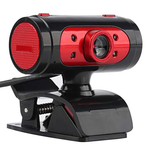 Solustre Cámara Web HD Micrófono Incorporado Computadora USB Externa Cámara en Vivo Cámara Web de Disco Libre para Oficina Escuela Hogar (Color Aleatorio)