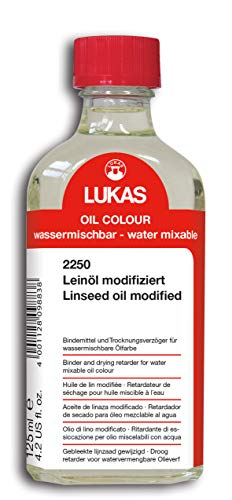 LUKAS Paint agent for water-mixable oil paints - linseed oil modified in 125 ml.