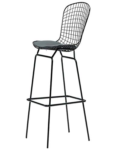 QTQZDD barkruk barkruk wire back hoge stool eenvoudige ijzer industrie wind koffie stoel keuken restaurant barkruk terug stoel (kleur: wit, afmetingen: 54 x 55 x 116 cm) 2 2