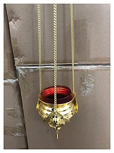bangong Copper Buena Iglesia Lámpara de Aceite Adecuada CADRADA CADRANDO CADRANTE CANTIDAD Grande Santos CANDERANTE QUERADOR DE Lantern para Familia O Iglesias 506
