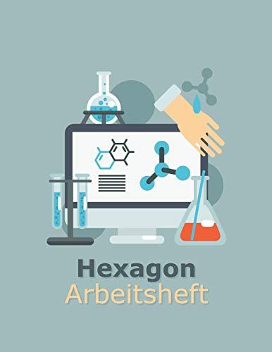 Hexagon Arbeitsheft: 108 Seiten | Hexagon Raster