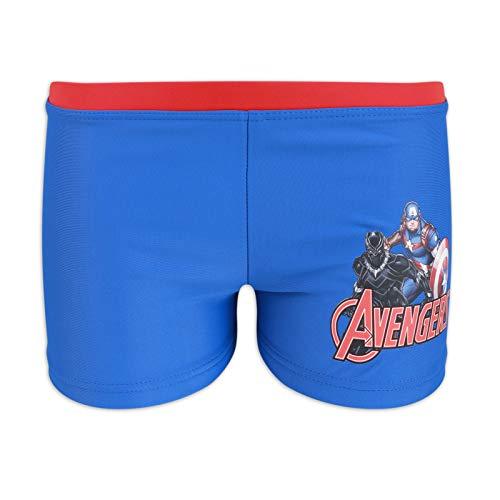 Marvel Avengers - Costume da Bagno Pantaloncino Boxer Mare Piscina - Bambino - Prodotto Originale con Licenza Ufficiale [1756 Blu - 10 Anni]
