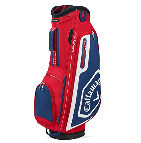 Callaway Golf 2020 Chev 14 Cart Bag Red/Navy/White, One Size