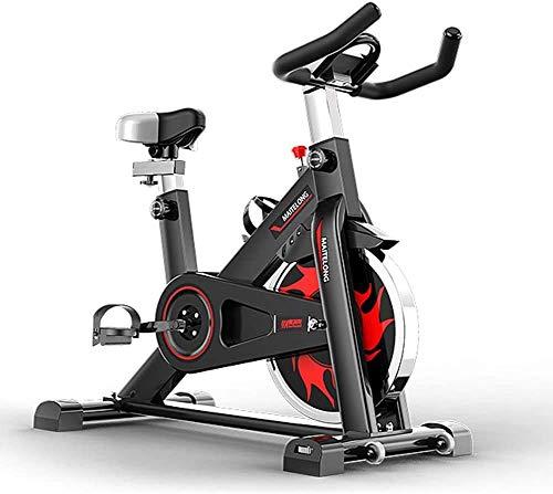 Indoor Cycling Heimtrainer, Einstellbarer Lenker Sitz Widerstand mit Anti-Rutsch-Pedale, Smart-App Liest Kalorien Geschwindigkeit Zeit usw, elektromagnetisches Spinning Bike for Heim maximaler Belast