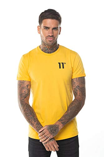 11 Degrees Camiseta Core Muscle Fit Amarillo