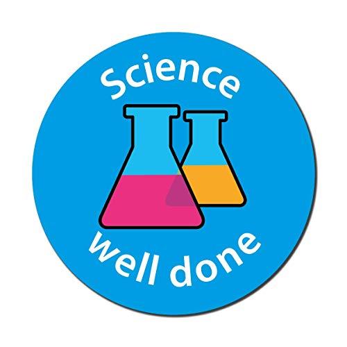 Wetenschap - goed gedaan. Set van 140 24mm curriculum stickers.
