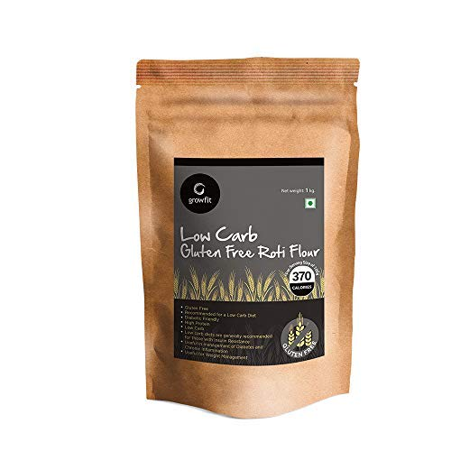 Low Carb Gluten Free Roti Flour (1kg), Alternative to Roti Atta, Contains Amaranth Black Rice Whole Oats Sago Jackfruit Flour Flax Seed Meal Soy Lecithin Pea Protein, Added Vitamins & Minerals